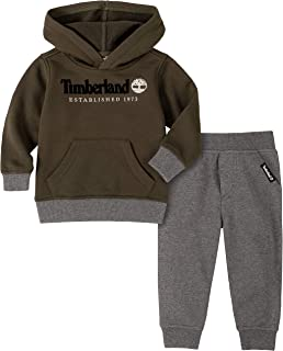 Baby Boys' 2 Pieces Hooded Pullover Pants Set