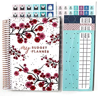 Budget Planner (12 Months Undated) with Cash Envelopes 250+ Budgeting Stickers & Sticker Tabs - Monthly Financial Planner ...