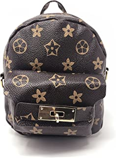 Mini Fashion Backpack for Women Girls Small Shoulder Bag Lightweight Strong Floral Travel Hiking Camping