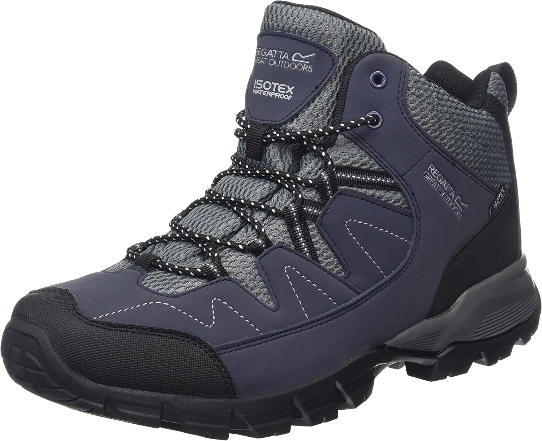 (7 UK, blueee (Nvybl Granit))  Regatta Holcombe Mid, Men's High Rise Hiking Boots
