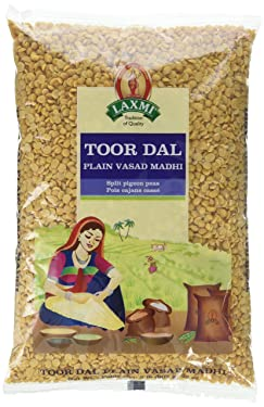 Laxmi Toor Dal, Traditional Indian Split Yellow Peas - 2lb Bag