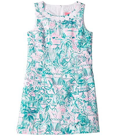 Lilly Pulitzer Kids Mini Mila Dress (Little Kids/Big Kids) (Agate Green Colorful Camouflage) Girl