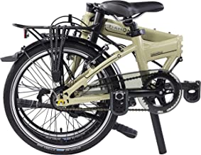 "Dahon Mariner I7 Folding Bike, Lightweight Aluminium Frame 7-Speed Shimano Gears 20"" Foldable Bicycle for Adults"