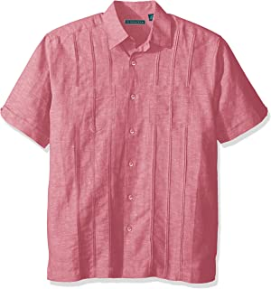FREE Shipping on eligible orders. Cuba Vera Mens Short Sleeve Two Pocket  Tuck Woven Shirt Button-Down Shirt d781103eb