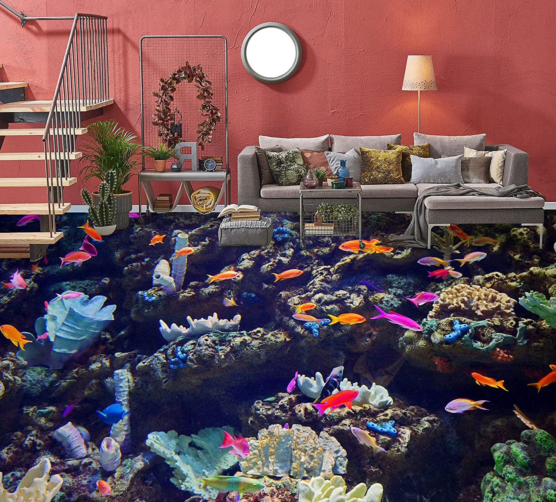 3D Seabed 5680 Floor Wallpaper Murals Wall Decal WALLPA Over item handling AJ Ranking TOP18 Print