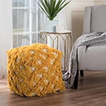 Christopher Knight Home Alute Gold Fabric Pouf