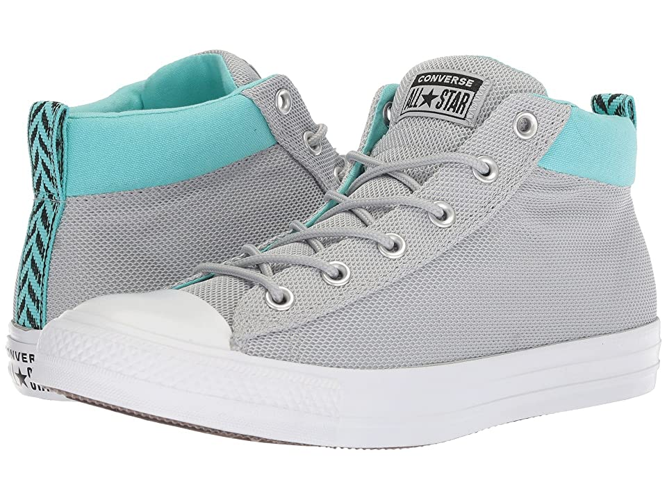 Converse Chuck Taylor All Star Street Mid (Wolf Grey/Bleached Aqua/White) Classic Shoes