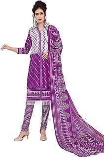 Minu salwar Cotton Printed Suit sets Purple(Pbeauty_6013_0)