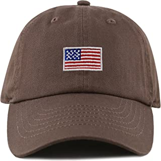 439762dcdba74 THE HAT DEPOT Kids American Flag Washed Low Profile Cotton and Denim  Baseball Cap Hat