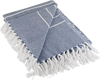 DII Woven Throw Blanket Rustic Farmhouse Thin, 50x60 with 2.5