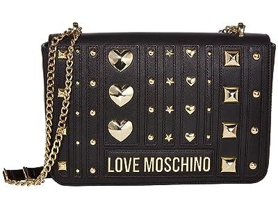 LOVE Moschino Love and More Shoulder Bag (Black) Handbags