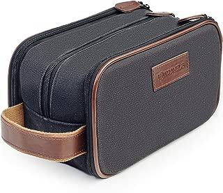 Canvas Dopp Kit (11 Inches) 3 Compartments + Laundry Bag ? Easy Organization Travel Toiletry Bag for Men or Women ? Excellent Portable Shaving Bag & Toiletries Storage + 2 Bonus Best-Selling Ebooks