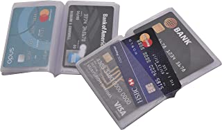 Wallet Inserts for Credit Cards - 2 Piece Transparent Plastic Insert Replacement