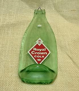 Rare Vintage Royal Crown RC Cola Soda Slumped Flat 10 oz Bottle Spoon Rest