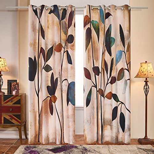 Fassbel 2 Panel Set Digital Printed Window Curtains Thermal Insulated For Bedroom Living Room Dining