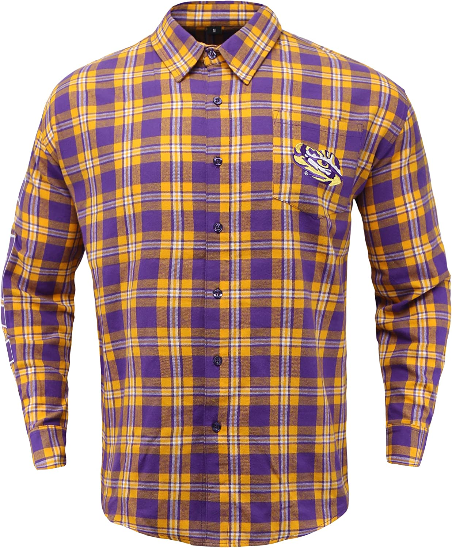 NCAA Unisex Basic Flannel Shirt