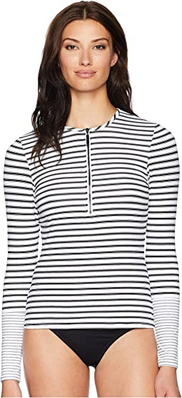 Harrison Stripes Long Sleeve Rashguard Top