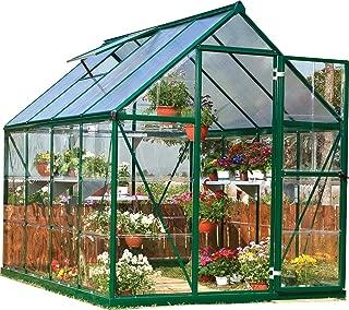 Palram HG5508G Hybrid Greenhouse, 6' x 8' x 7', Forest Green