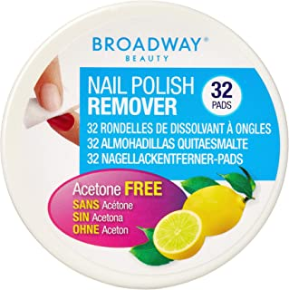 BROADWAY Nail Polish Remover Pads Lemon Scented 36A, 32 Pads