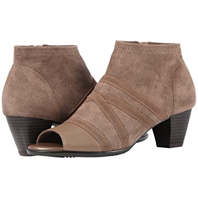 Trotters Maris (Taupe Soft Nappa Leather/Stretch Textile) Women