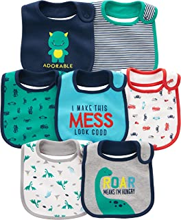 Baby Boys' 7-Pack Teething Bibs