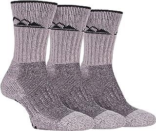 Storm Bloc, 3 Pack Mujer Algodon Antiampollas Senderismo Montaña Calcetines para Botas