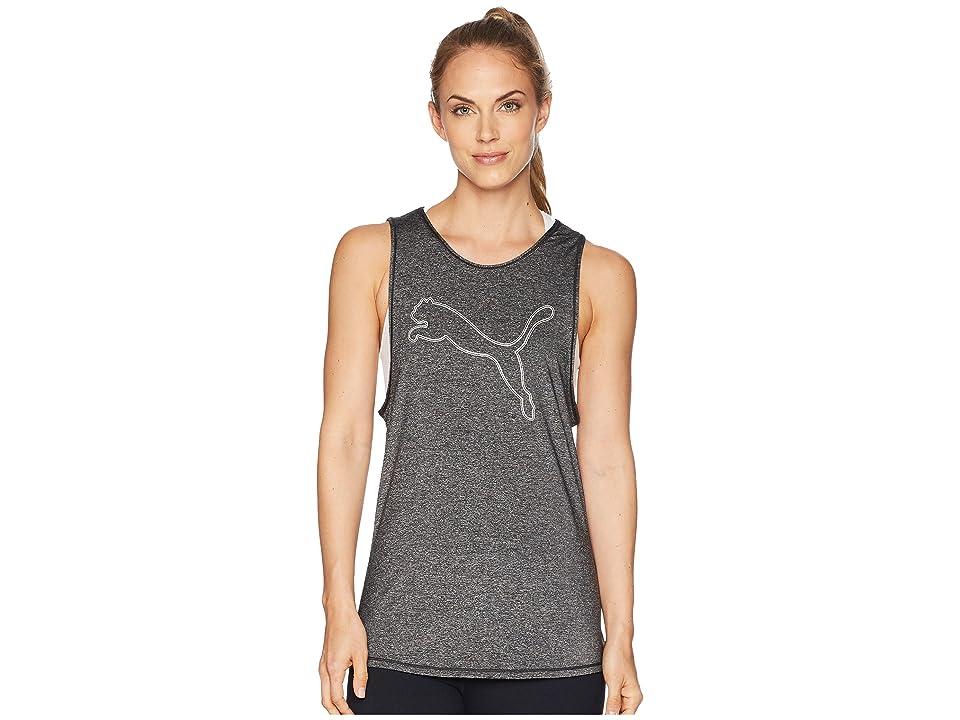 PUMA Oceanaire Logo Tank Top (Puma Black Heather) Women