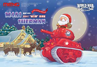 MNGWWV002 Meng World War Toons Christmas Edition - M4A1 Sherman with Santa Clause Figure [Model Building KIT]