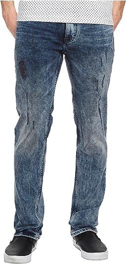 Slim Straight Jeans in Bruise Indigo Wash