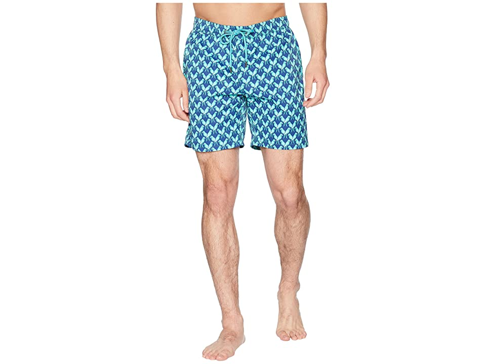 Mr. Swim Parrots Printed Dale Swim Trunks (Blue) Men