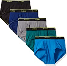 Hanes Men's 5-Pack Cool Comfort Lightweight Breathable Mesh Brief