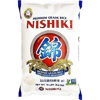 Nishiki Premium Rice, Medium Grain, 240 Oz, Pack of 1