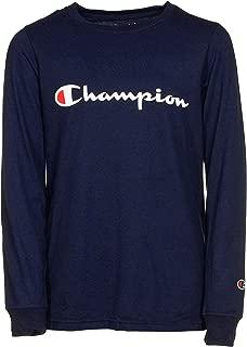 Champion Boys Heritage French Terry Long Sleeve Script Logo Tee Shirt Kids