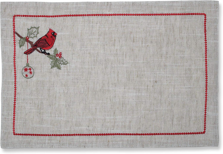 Pillow Perfect Christmas Cardinal Placemat Set Multi x Over item handling ☆ 12