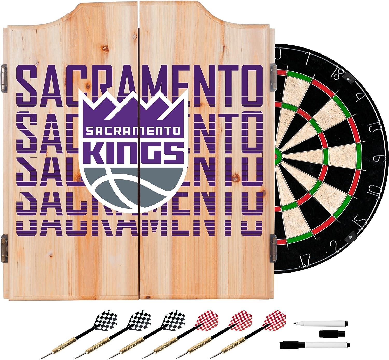Trademark Global NBA Dart Cabinet Set with Darts and Board  City  Sacramento Kings NBA7010SK3