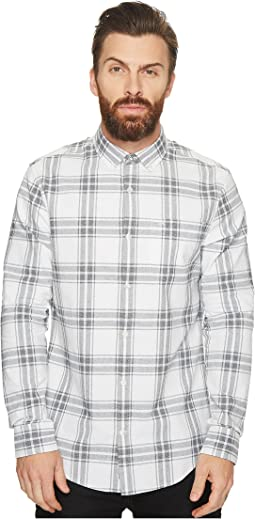 Long Sleeve Jaspe Plaid Oxford Shirt