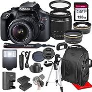 Canon Rebel T100 / EOS 4000D w/Canon EF-S 18-55mm F/3.5-5.6 III Zoom Lens & Professional...