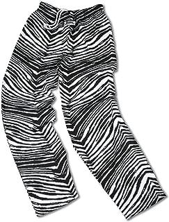 New Orleans Team Color Zebra Pants, Black Metallic Gold