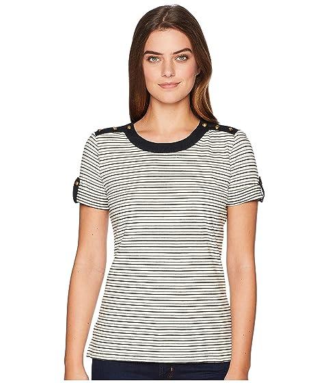7b11eb58 LAUREN Ralph Lauren Striped Button-Shoulder Top at 6pm