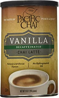 Pacific Chai Decaffeinated Vanilla Chai Latte Mix Canisters - 10 oz