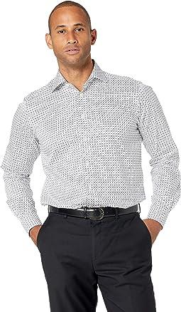 Contemporary Fit Rocket Print Poplin Shirt