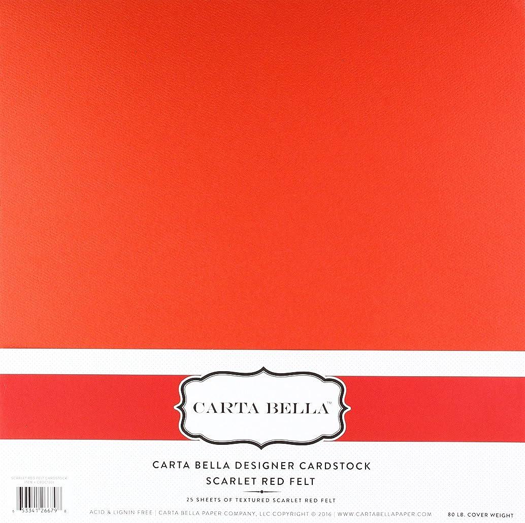 Carta Bella Paper Company CBDC1301 Scarlet Red Felt Cardstock 80 lb Cover xiovzzyl09980