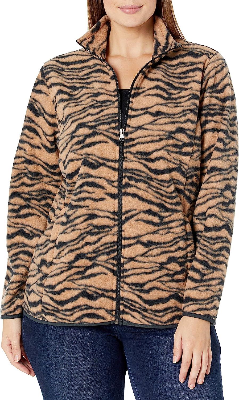 Amazon Essentials Women's Plus Some reservation Size OFFicial shop Jacket Polar Full-Zip Fleece