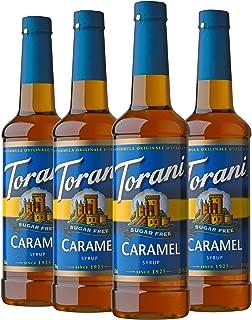 Torani Sugar Free Syrup, Caramel, 25.4 Ounces (Pack of 4)