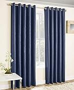 "Enhanced Living - Vogue Navy/Blue , Eyelet Curtain, Dimout, Thermal, Blockout Curtain (Width - 66"" (168cm) x Drop - 72"" (183cm))"