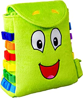 "Buckle Toy ""buddy"" Backpack - Toddler Early Learning Basic Life Skills Children'"