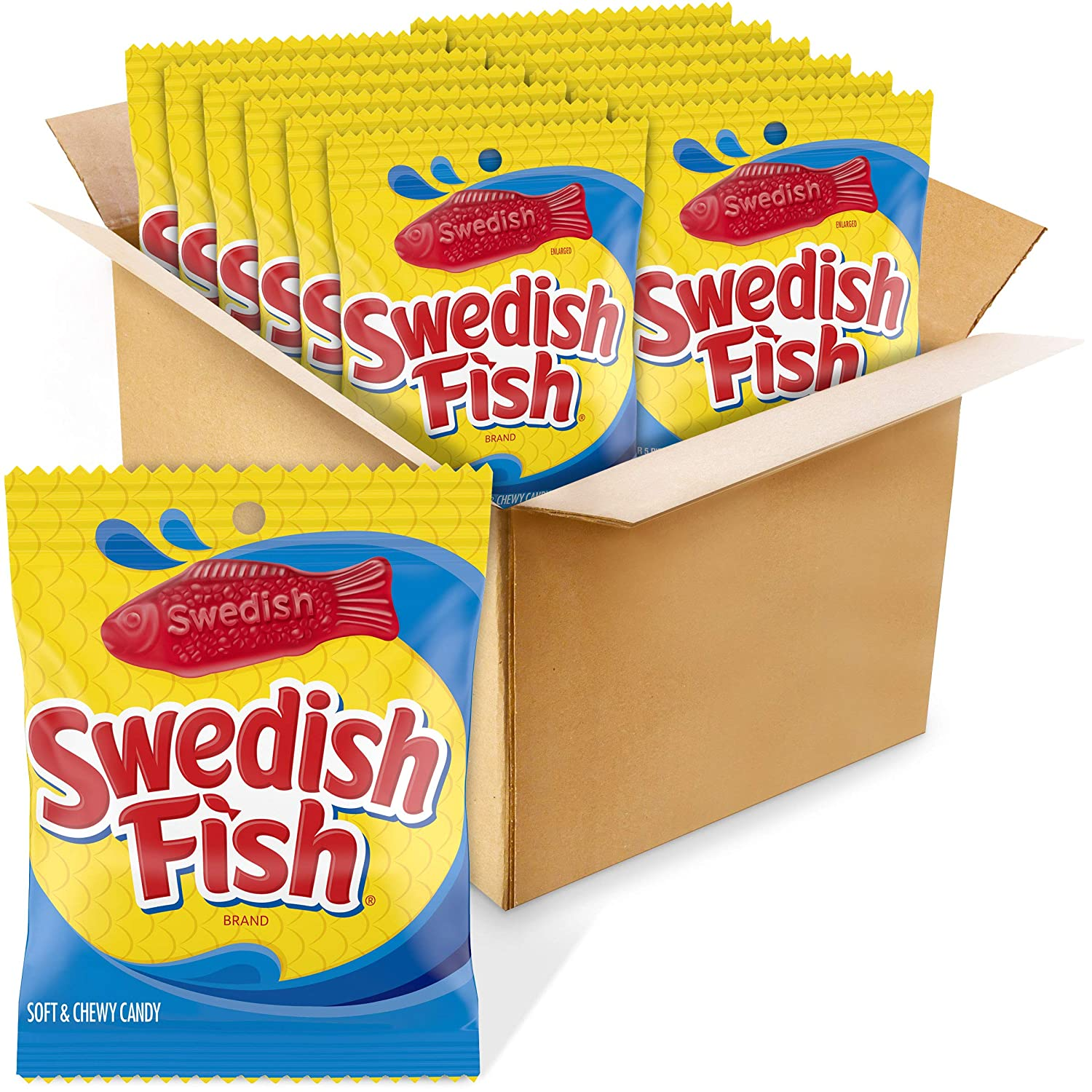 4 years warranty Swedish Fish Red Max 90% OFF Soft Chewy 5-Ounce Bags Candy Pack of