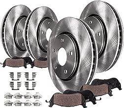 Detroit Axle - 5-LUG FRONT & REAR Brake Rotors & Ceramic Brake Pads w/Hardware for 2007-2009 Chrysler Aspen & Dodge Durango - [2006-2017 Dodge Ram 1500 5-LUG]