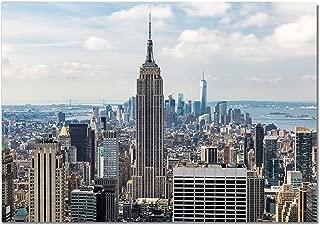 Panorama Póster Empire State 30 x 21 cm - Impreso en Papel 250gr - Póster Pared - Cuadros Decoración Salón - Cuadros para Dormitorio - Póster Decorativos - Cuadros Modernos