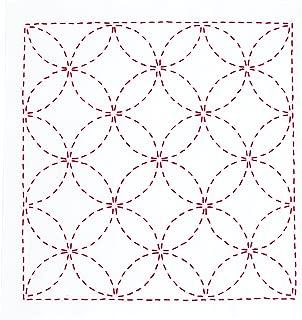オリムパス製絲 花ふきんキット 刺し子 みんなできちゃうシリーズ 図案プリント済 七宝つなぎ 266